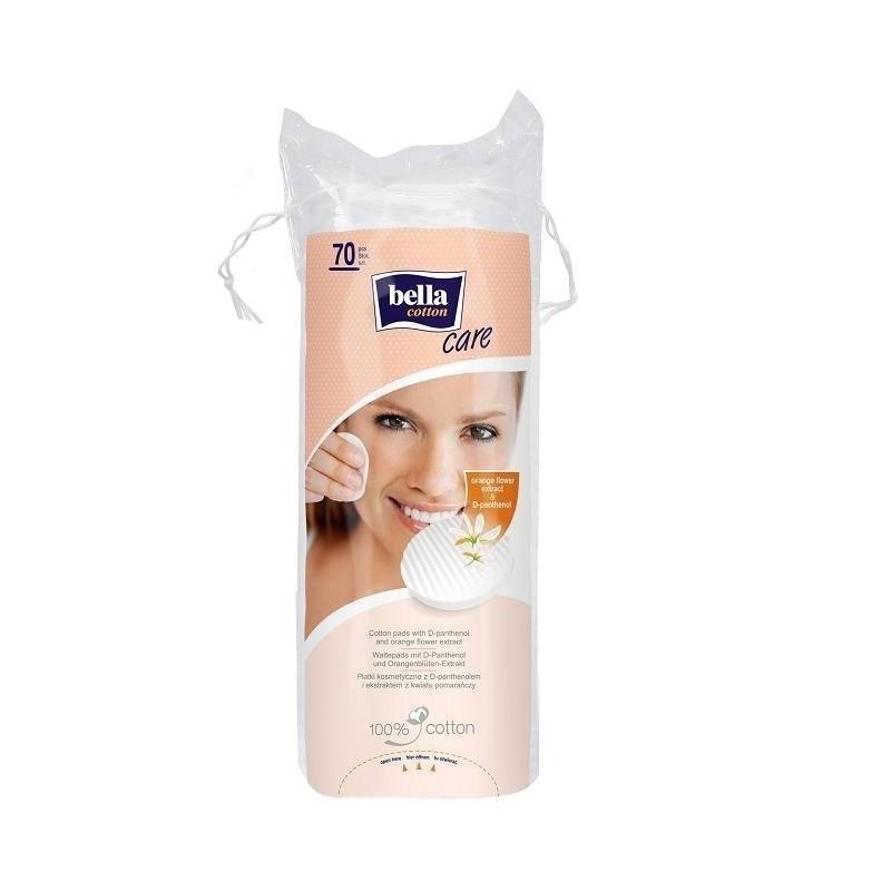 Płatki kosmetyczne Bella Cotton Care z pomarańczą i D-pantenolem 70 szt.