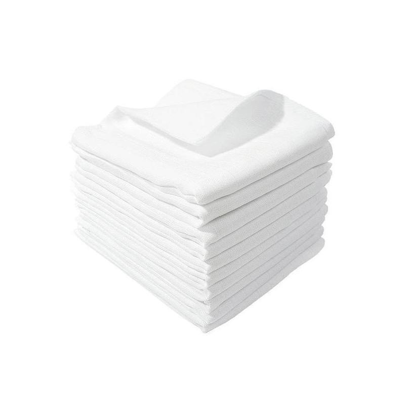 Pieluszki wielorazowe, tetrowe, białe