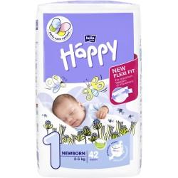 Pieluszki dla dzieci Bella Baby Happy New Flexi Fit Newborn (1) 2-5kg