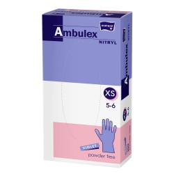 Rękawiczki nitrylowe Ambulex Nitryl, fioletowe
