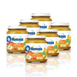 6x Deserek Humana jabłko banan, 100% ORGANIC, po 6. miesiącu