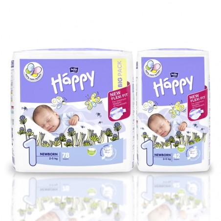 Pieluszki Bella Happy 1 Newborn 2-5kg