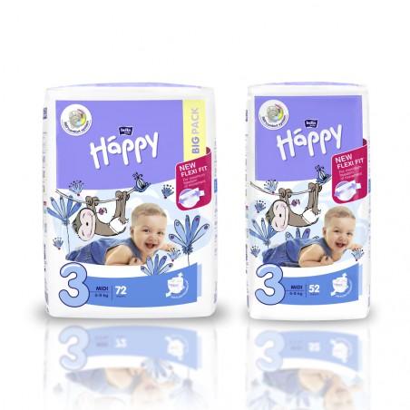 Pieluszki Bella Happy 3 Midi 5-9 kg