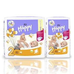 Pieluszki dla dzieci Bella Baby Happy New Flexi Fit Mini (2) 3-6kg