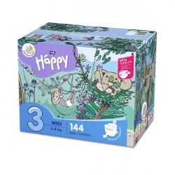 Pieluszki Bella Happy 3 Midi BOX 144szt.