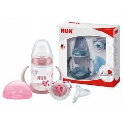 Zestaw prezentowy NUK - butelka + smoczek + pudełko
