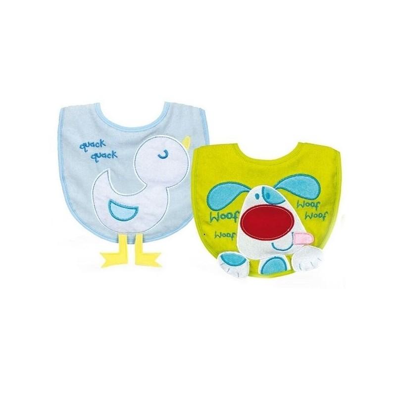 Śliniaczek dla dzieci Akuku, z piszczałką, na rzep