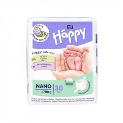 Pieluszki Bella Baby Happy Nano do 700g 30szt.