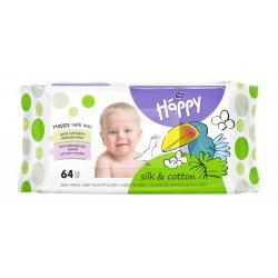 Chusteczki nasączone Bella Baby Happy Jedwab i Bawełna 64 szt.
