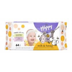 Chusteczki nawilżane Bella Baby Happy, mleko i miód