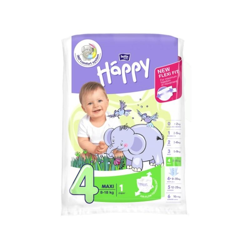 Pieluszki Bella Happy 4 Maxi 8-18 kg