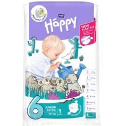 Pieluszki dla dzieci Bella Baby Happy New Flexi Fit Junior Extra (6) 16+kg