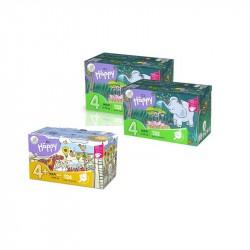 2x Pieluszki Happy Maxi BOX 132szt. + 1x Pieluszki Happy Maxi Plus BOX 124szt.