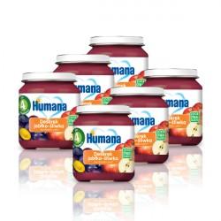 6x Deserek Humana jabłko śliwka, 100% Organic, po 4. miesiącu