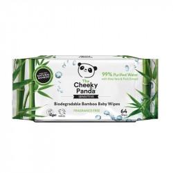 Bambusowe chusteczki nawilżane Cheeky Panda, 64 szt.