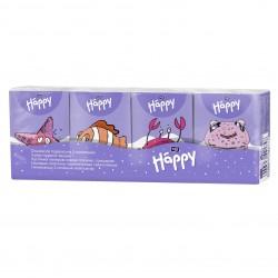 Chusteczki higieniczne mini Bella Baby Happy 3-warstwowe, papierowe 8x9 szt.
