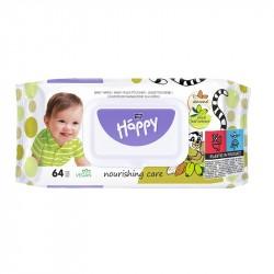 Chusteczki nawilżane Bella Baby Happy, z wyciągiem z migdała i liści oliwek 64 szt.