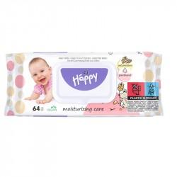 Chusteczki nawilżane Bella Baby Happy, z proteinami owsa i panthenolem 64 szt.