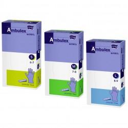 Rękawiczki jednorazowe nitrylowe Ambulex Nitryl fioletowe100 szt.