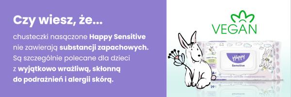 kalendarz ciąży chusteczki nawilżane happy sensitive